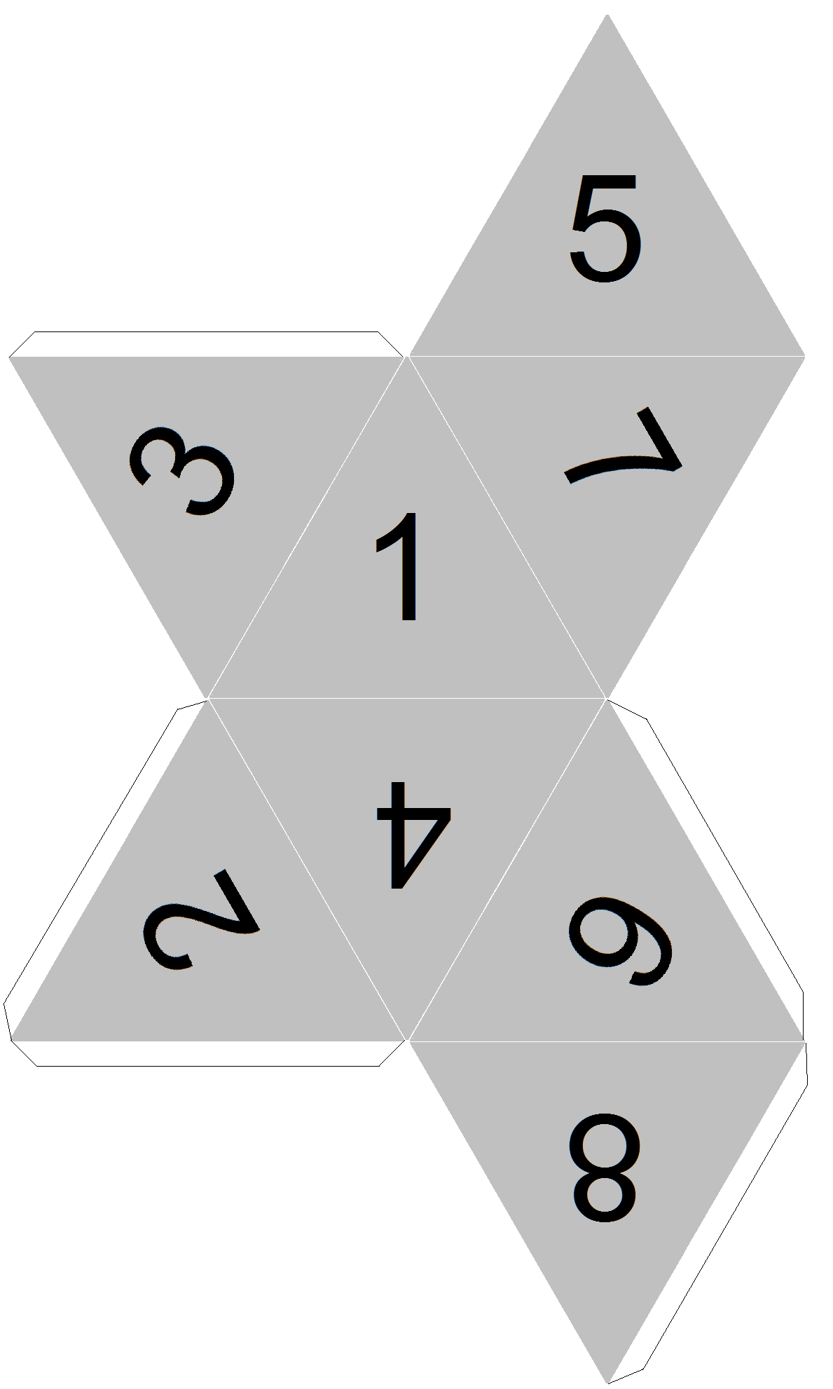 9 sided dice template blank
