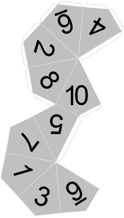 12 sided dice template Success