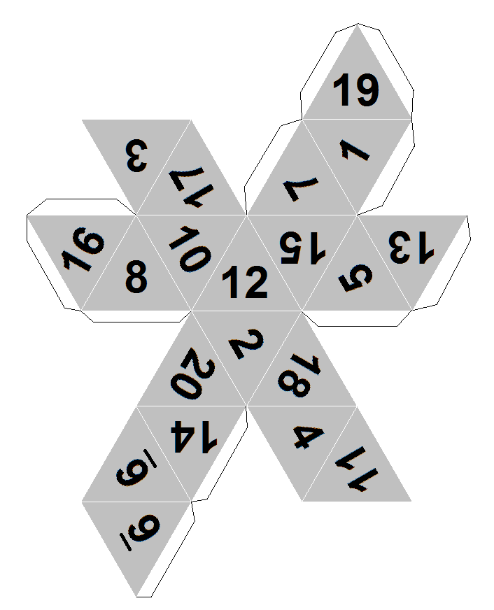 7 sided dice template printable
