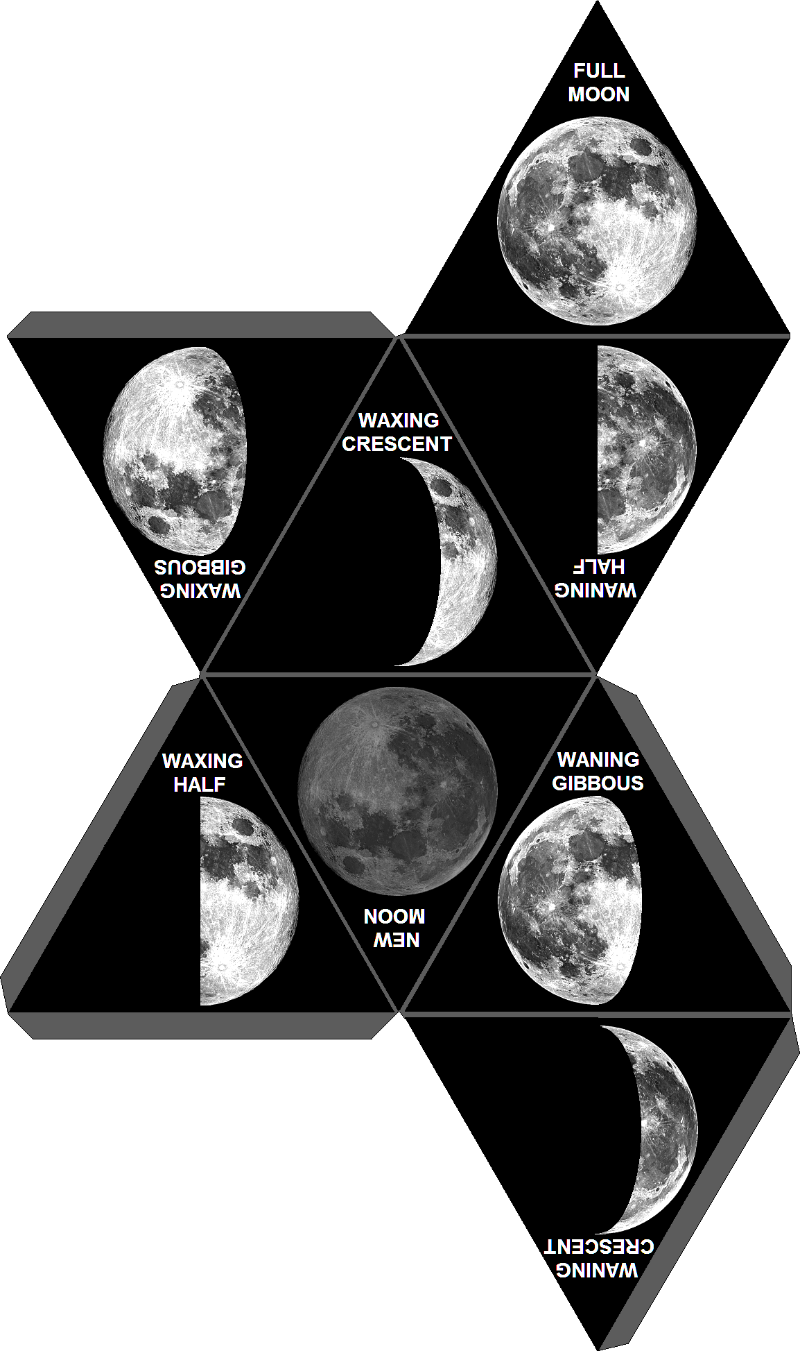 essay on the moon phases The phase when the moon passes between the earth and sun is called the new moon the next phase of the moon is called the waxing crescent.