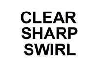 Dice : D10 CLEAR SHARP SWIRL 00