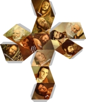 Dice : D12 RHOMBIC DODECAHEDRON JESUS DISCIPLES