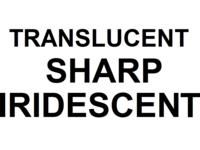 Dice : D12 TRANSLUCENT SHARP IRIDESCENT 00