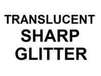 Dice : D20 TRANSLUCENT SHARP GLITTER 00
