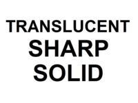 Dice : D20 TRANSLUCENT SHARP SOLID 00