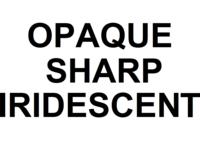 Dice : D6 OPAQUE SHARP IRIDESCENT 00