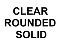 Dice : NON NUMBERED CLEAR ROUNDED SOLID 00