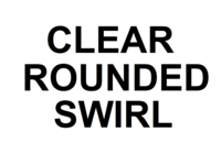 Dice : NON NUMBERED CLEAR ROUNDED SWIRL 00