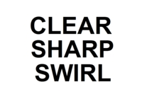 Dice : NON NUMBERED CLEAR SHARP SWIRL 00