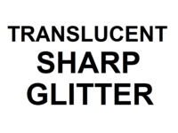 Dice : NON NUMBERED TRANSLUCENT SHARP GLITTER 00