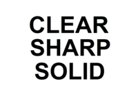 Dice : NUMBERED CLEAR SHARP SOLID 00