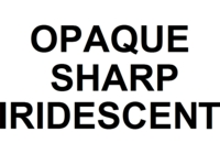 Dice : NUMBERED OPAQUE SHARP IRIDESCENT 00
