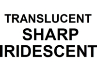 Dice : NUMBERED TRANSLUCENT SHARP IRIDESCENT 00