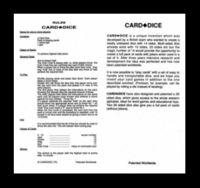 CARDDICE RULES