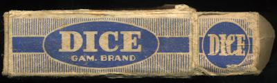 gam brand dice box