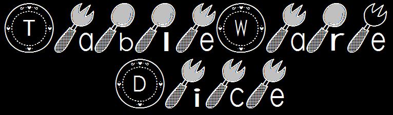 tableware dice