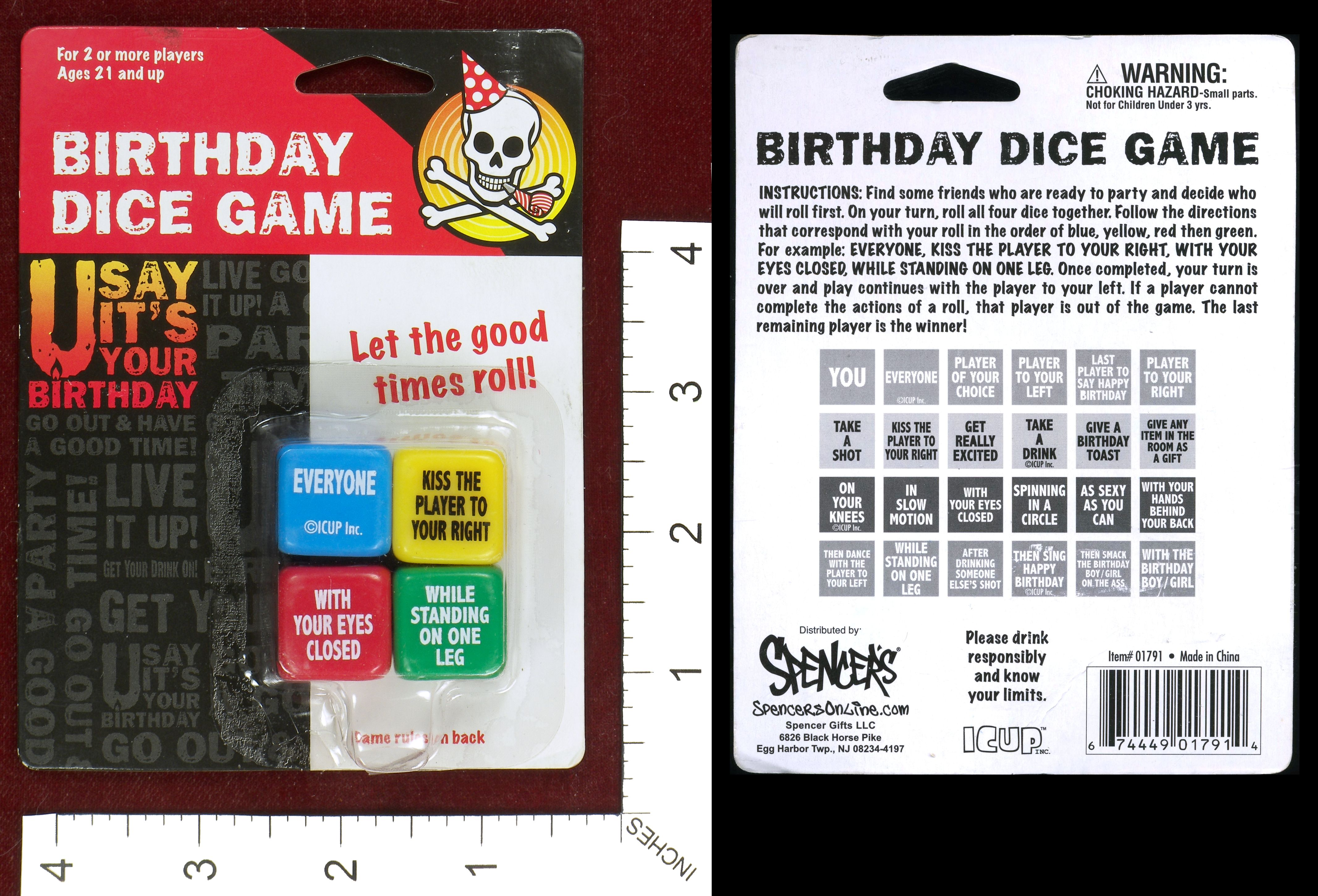 A Dice Drinking Game