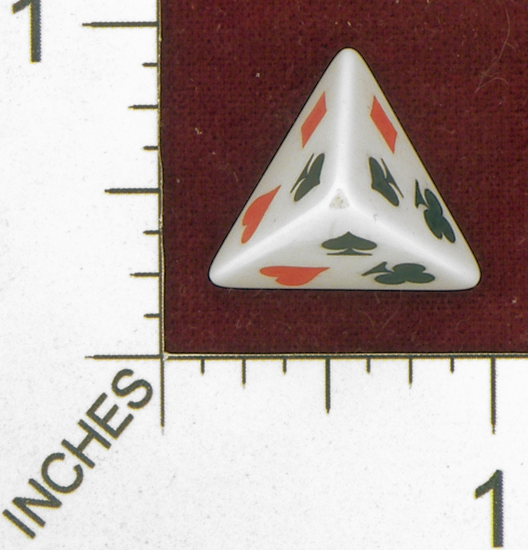 D4 OPAQUE ROUNDED SOLID  ERIC HARSHBARGER CARD SUIT DIE 01  || ,