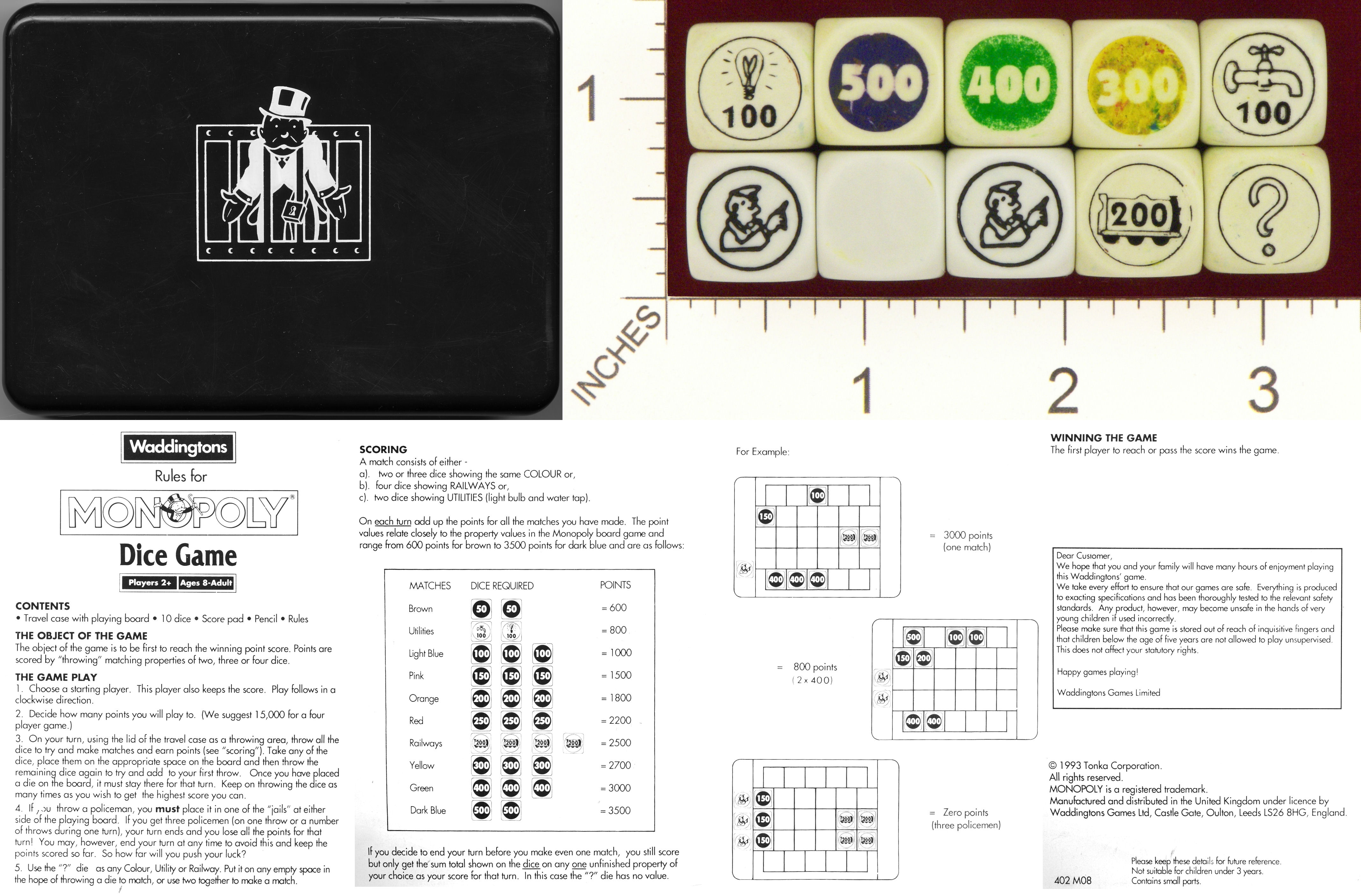 Dicecollector Dice Theme Monopoly Dice