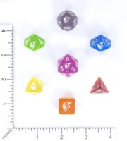 Dice : MINT56 HAGUE BESCON RAINBOW UNICORN