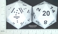 Dice : PAPER D20 PIPPED