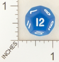 Dice : D12 CLEAR ROUNDED SOLID WEIBLE SPIELE 01