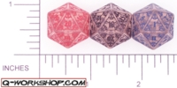 Dice : D20 CLEAR ROUNDED SOLID Q WORKSHOP MYSTIC 01