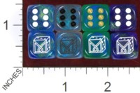Dice : MINT37 CHESSEX DICE MANIACS CLUB LOGO OLD 02 BOREALIS