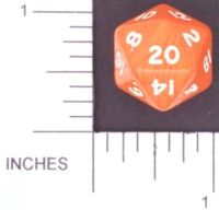 Dice : D20 OPAQUE ROUNDED SOLID ORANGE 01