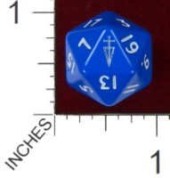 Dice : D20 OPAQUE ROUNDED SOLID PRODOS GAMES MUTANT CHRONICLES BROTHERHOOD