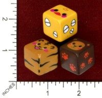 Dice : MINT46 UNKNOWN CHINESE ANIMALS CHICK TIGER BEAR