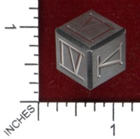 Dice : MINT45 GOULD ENGINEERING D6 STEEL STAINLESS ROMAN