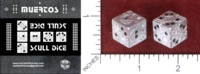 Dice : MINT49 TIMOTHY KREMER MUERTOS DAY OF THE DEAD SKULL DICE METAL