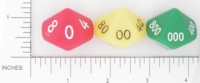 Dice : D10 OPAQUE ROUNDED SOLID SI MANUFACTURING 01 PLACE VALUE