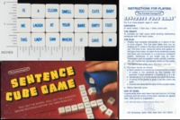 Dice : NON NUMBERED OPAQUE ROUNDED SOLID THE GAMES GANG SENTENCE CUBE GAME 01
