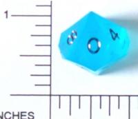 Dice : D10 TRANSLUCENT SHARP SOLID 2