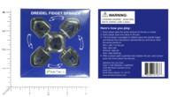 Dice : MINT59 DREIDEL COMPANY DREIDEL FIDGET SPINNER SILVER