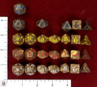 Dice : MINT47 Q WORKSHOP CLASSIC ELVEN IRIDESCENT BRONZES