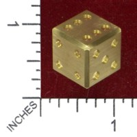Dice : MINT45 GOULD ENGINEERING D6 BRASS
