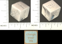 Dice : METAL CHROME D6 03 BOMBAY DUCK 03 CHANGE YOUR LIFE