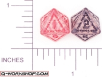 Dice : D8 CLEAR ROUNDED SOLID Q WORKSHOP RUNIC II 01
