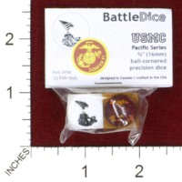 Dice : MINT44 BATTLESCHOOL BATTLEDICE PACIFIC SERIES USMC UNITED STATES MARINE CORPS