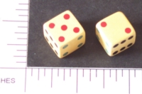 Dice : D6 OPAQUE SHARP SOLID CELLULOID
