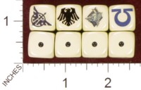 Dice : MINT35 HOMEMADE WARHAMMER DARK ANGLES RAVEN GUARD SPACE WOLVES ULTRAMARINES