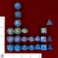 Dice : MINT47 Q WORKSHOP CLASSIC ELVEN IRIDESCENT BLUES