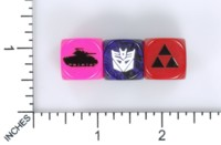 Dice : MINT56 BESCON SAMPLE TANK DECEPTICON TRIFORCE