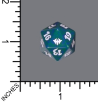 Dice : D20 MTG OPAQUE ROUNDED SPECKLED WIZARDS OF THE COAST MTG DARK ASCENSION 05