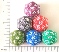 Dice : D30 OPAQUE ROUNDED SPECKLED 1