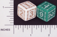 Dice : NUMBERED OPAQUE ROUNDED SOLID GAMESTATION 01
