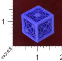 Dice : MINT29 SHAPEWAYS MCTRIVIA D6 GRID DIE 06 05